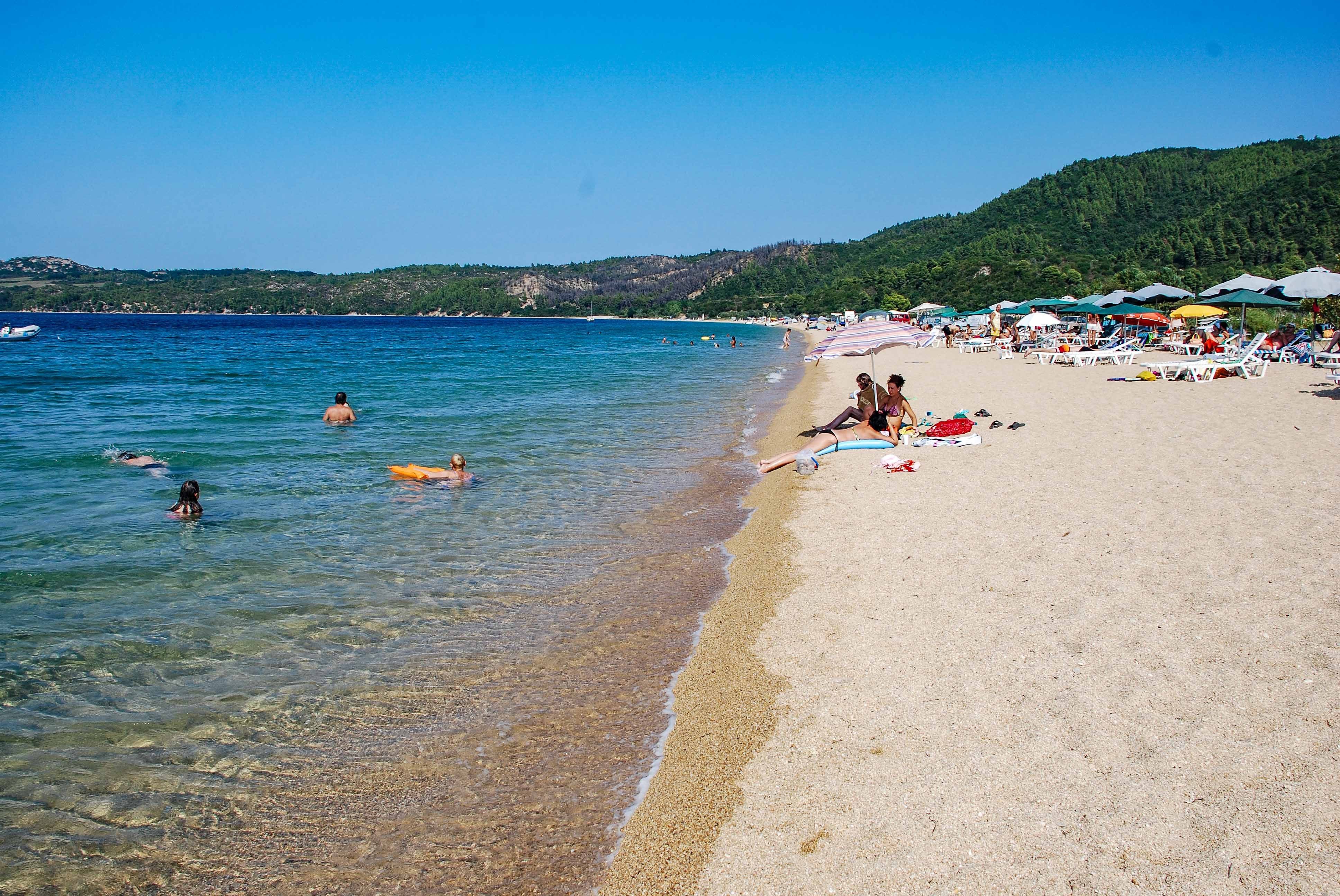 East Komitsa beach, Ierissos gulf, Halkidiki, Greece