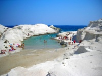 Sarakiniko beach, Milos, Cyclades, Greece