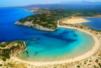 Voidokilia beach, Messinia, Peloponnese, Greece