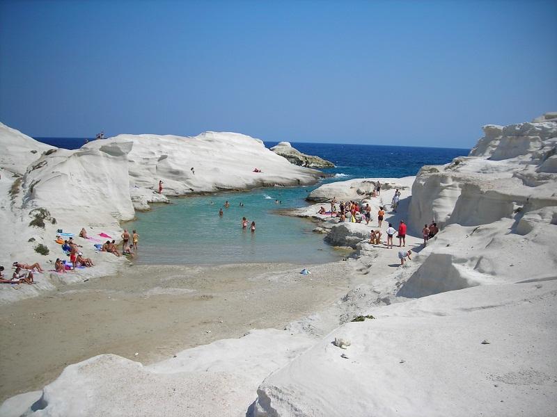 Sarakiniko beach, Milos, Cyclades, Greece